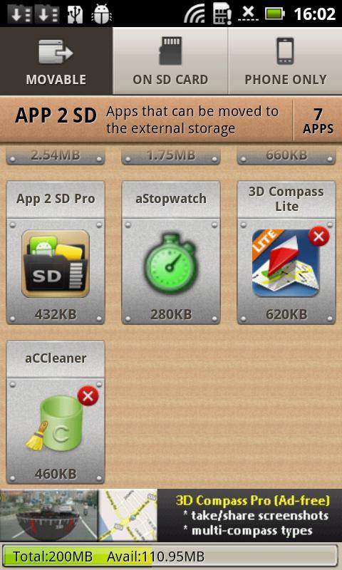 App 2 SD Free (move app to SD)